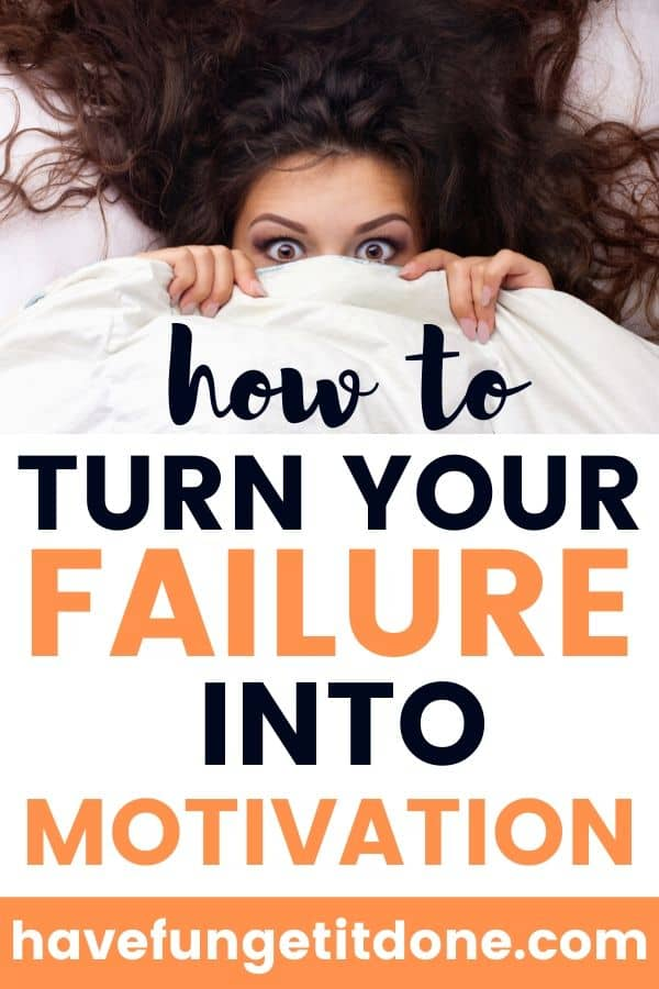 How To Turn Your Failure Into Motivation, actual image shows woman hiding under covers to illustrate being embarrassed from failing